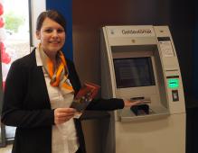 Geldausgabeautomat im Kaufland